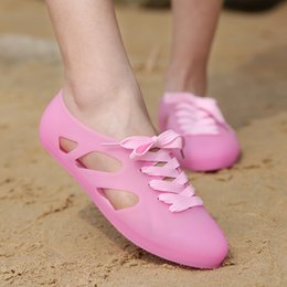 Mint Green Flat Shoes Canada - Women Sandals Summer Fashion Plastic Sandals Breathable Shoes Woman Slip Ons Beach Shoes Outdoor Water EVA Flats Slippers