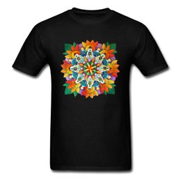 mountain tees NZ - Mandala Mountain T Shirt Print Men T-shirt Towns Of Colorado Tshirt Colorful Design Summer Clothes Black Tees Cotton Top Quality