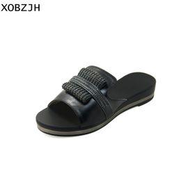 fac78980ff60 XOBZJH Women Sandals 2018 Summer Mature Ladies Fashion Party Black Platform  Wedges Shoes Rhinestone Woman Sandals Plus Size