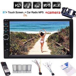stereo media player UK - Backup camera+Universal 7'' 2 Din Bluetooth Car Audio MP5 Player double din head unit car PC system HD TouchScreen In Dash Media Stereo