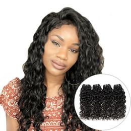 cheap water wave weave 2019 - New Arrival Cheap 10A Brazilian Water Wave Hair Bundles 4Pcs Lot 100% Natural Remy Hair Extensions Brazilian Hair Weave