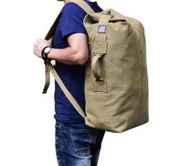 $enCountryForm.capitalKeyWord UK - Multifunctional Military Tactical Canvas Backpack Men Male Big Army Bucket Bag Outdoor Sports Duffle Bag Travel Rucksack