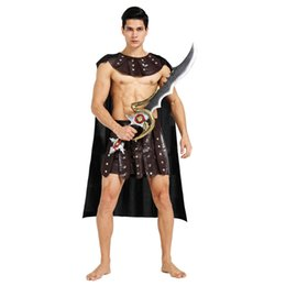 soldier women costume 2019 - ladiator costume Umorden Halloween Ancient Roman Greek Soldier Gladiator Costumes Leather Spartan Warrior Costume for Ad