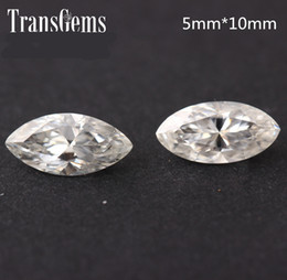$enCountryForm.capitalKeyWord Australia - TransGems 1 Carat 5mm*10mm F Color Marquise cut moissanite Diamond Loose Stone Test Positive as Real Diamond 1piece S923