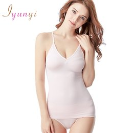 camisole corset 2019 - Wholesale-Women Hot Slim Camisole Tank Tops Spaghetti Strap Body Slimming Vests Shaper Underwear Abdomen Corset Thin Wai