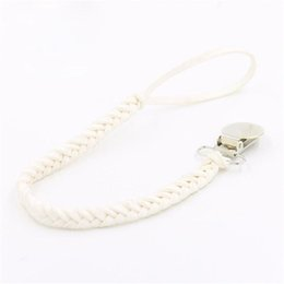 Baby Infant Braided Faux Leather Pacifier Clips Holder Цепной ремень Bow Headband Kid Care