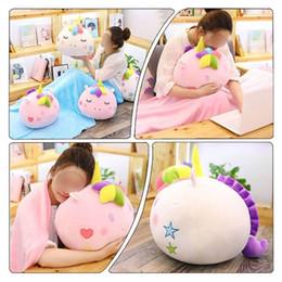 Batteries Lovely Fruit Plush Blanket Cute Cartoon Velvet Doll Pillow Cushion Nap Car Sofa Bolster Air Conditioning Pillow Blanket 2 In 1