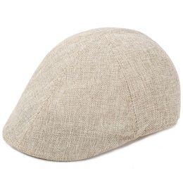 Boinas de ocio de algodón delgado causal masculina primavera sol sombrero verano  boina del hombre ala corta cool soild barato 10 unids   lote 56b6a635386