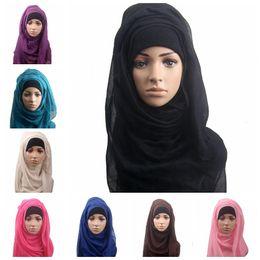 Cover muffler online shopping - 14 colors Muslim Women Shawl Scarf Long Head Cover Headscarf Muffler Muslim Islamic Wrap Headscarf Neck Full Cover Scarf MMA454