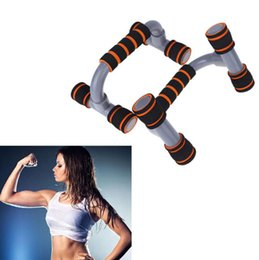 Wholesale 1 Pair Fitness Push ups Stands Bars Sport Gym Exercise Training Chest Bar Sponge Hand Grip Trainer For Body Building
