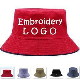 d011c674b7a Wholesale Embroidery Custom Fishing men Hats Adult Bucket Hat With  Windproof rope Men Bucket Women Travel Sun Caps Casual Custom Your LOGO