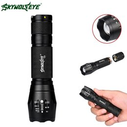 Zoomable focus flashlight torch online shopping - 2018 Top Fashion Skywolfeye Lumen Zoomable T6 Led Flashlight Modes Portable Waterproof Mini Torch Focus Lamp for Cycling