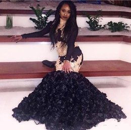 Girls pick up paGeant dresses online shopping - sexy cheap black girls pageant prom dresses evening party wear long sleeve black girl formal dress custom made