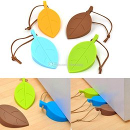 cute door stoppers 2018 - Silicone Rubber Door Stopper Cute Autumn Leaf Style Home Decor Finger Safety Protection Wedge Kid Baby Safe Doorways C42