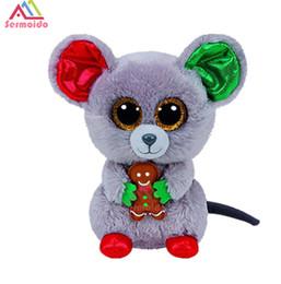 "Big Stuffed Mouse UK - 6"" 15cm Mac the Mouse Plush Regular Soft Big-eyed Stuffed Animal Collection Doll Toy"