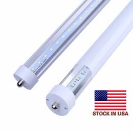 Discount light bulb pins - 5000K Daylight White 45W 8ft FA8 Single pin T8 LED Tube Light replace fluorescent bulbs SMD2835 AC100V-305V FCC DLC UL 2