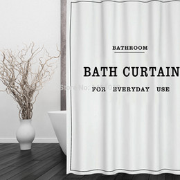shower curtains modern 2019 - Fabric Polyester White Black BATH CURTAIN Waterproof Shower Curtain Bathroom Curtains size 180x180cm cheap shower curtai