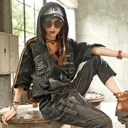 Korean female jeans online shopping - Casual Luxury Korean Brand Pieces Girls Punk Style Streetwear Womens Denim Tracksuit Set Woman Jeans Sweat Suit Plus Size Female