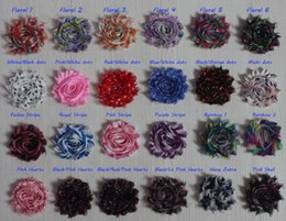 $enCountryForm.capitalKeyWord Australia - Free DHL EMS 50y 2.5 inch print chiffon shabby flower for girls headbands,shabby chiffon flower for baby hair accessories,diy craft supplies