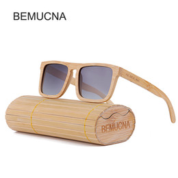 2017 New BEMUCNA Mens Wooden Sun Glasses Men And Women Luxury Handmade Sunglasses For Friends As Gifts