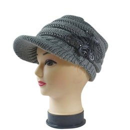 039d0bf8c69 Womens fancy hats online shopping - Womens Lady Flower Winter Warm Visor  Knit Hat Ski Snowboard