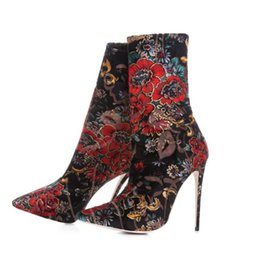 Discount floral print dress shoes Designer Women Fashion Flats Shoes Fashion Designer Women Shoes Superstars Fashion Printing Boots Women Dress Shoes Plus Size