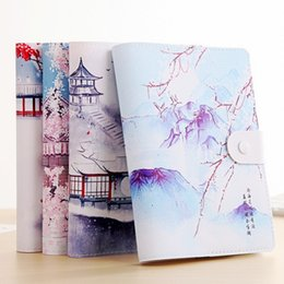 $enCountryForm.capitalKeyWord NZ - Creative Blank Leather Notebook Chinese Vintage Color Paper Illustration Magnetic Buckle Travel Note Book Mini Pocket Notebooks