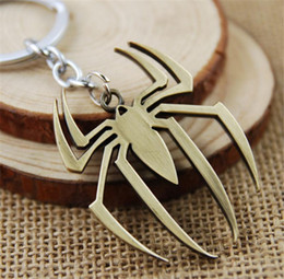 Superhero Keychains Canada - 2018 new style Superhero, Spider-Man, Batman, Iron Man, chain of power, rings, fashion, jewelry, best present for a friend.