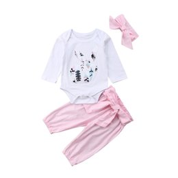 d2a8003b1 Lovely Baby Girls Clothes Set Autumn Newborn Infant Baby Girl Long Sleeve  3D Bunny Pattern Romper Bowknot Pants 3Pcs Outfits Set