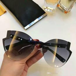 9e193e5401 Diseñador para mujer 0312 Cat Eye Sunglasses negro / gris sombreado 2018  Gafas de sol Sonnenbrille Gafas de sol de verano Verano Nuevo en caja