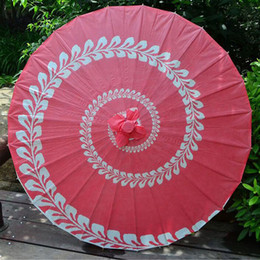japanese umbrella wholesale Australia - 20pcs lot Japanese Style 33inch Bamboo Oilpaper Umbrella Parasol Dancing Wedding Party Cosplay Decoration Free Shipping ZA4246