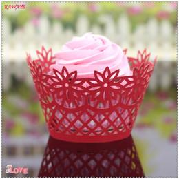 $enCountryForm.capitalKeyWord Australia - 100pcs  Vine Lace Laser Cut Cupcake Paper Wrappers DIY Baking Fondant Muffin Molds Wedding Baking Cup Cake Liners Round 6ZC15