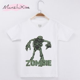 tee baby Canada - 2018 Summer Children Clothing Horrible Zombie Kids T-shirt Top Cotton Boy Short T Shirts Baby Clothing Girl Clothes Teen Tee Child Shirt