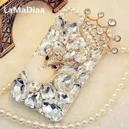Iphone 5c Crystal Cases Australia - LaMaDiaa Bling Rhinestone Crystal Diamond Fox and Crown Soft Back Phone Case Cover For iPhone X 7 8 Plus 6 6s Plus 5 5S SE 5C