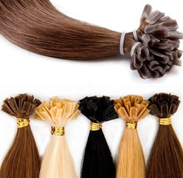 Nail discouNt online shopping - Discount Price Fasional Color Pre Bonded Keratin U tip Human Hair Extension Straight Remy Hair Nail Tip Hair Extensions g strand pack