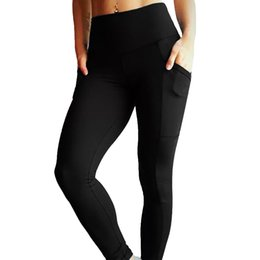 $enCountryForm.capitalKeyWord Canada - Sexy Yoga Pants Women Pocket Slim Pant Female Elastic Breathable Sports Wear Solid Color Tights For Running Fitness Gym Leggings