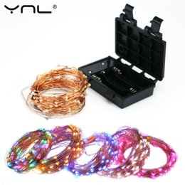 led copper wire string lights NZ - Christmas LED String Lights Waterproof 10M 100 Leds Case 8-Modes Copper Wire Party Wedding Decoration Flasher Fairy Lights