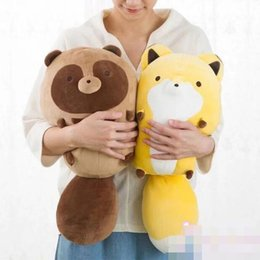 dog christmas presents 2019 - Candice guo plush toy stuffed doll cartoon animal fox palm civet Raccoon dog pillow cushion christmas present birthday g