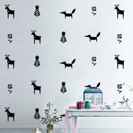 fox kids cartoons Australia - 32pcs set Creative Merry Christmas Elk Wall Stickers Fox Sticker Furniture Cabinets Vinyl Decal Kids Room DIY Home Decoration Living Room