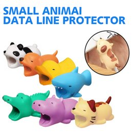 Wholesale Hot Styles Animal Bite Cable Protector Accessory Toys Cable Bites Dog Elephant Lion Rabbit for iPhone Android Smartphone Charger Cord