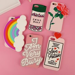 Cellphone siliCone Case Cover online shopping - 14 Style Phone Case For iPhone Plus Silicone Cartoon Flamingo Ice cream Rainbow Cellphone Cover Originality Mobile Phone Housing