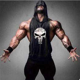 $enCountryForm.capitalKeyWord Australia - Skull Golds Bodybuilding Stringer Tank Tops men Gyms Stringer Shirt Fitness Tank Top Men Gyms Clothing Cotton Vest hoodies