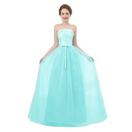 $enCountryForm.capitalKeyWord UK - Teal bridesmaid dresses long strapless tulle a line cheap formal maternity bridesmaid dress 2018 real picture