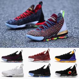 Nuovo arrivo 1 THRU 5 lebron 16 mens pallacanestro scarpe COSA IL Triple  nero FRESH BRED james uomini scarpe da ginnastica atletico sportivo sneaker  taglia ... 7256d4e7089