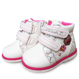 Flower Shoes Kids NZ - fashion boot 1pair PU Leather sneaker Fashion Children shoes, inner 13.5-17cm, Kids Flower girl Shoes