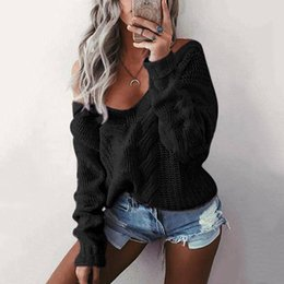 Discount european clothing styles for women - FYW Rainbow sweater for women fringe deep v neck sexy fashion jumper crop pullover female autumn winter knit clothes