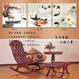 best canvas prints Canada - Home decoration wall art Chinese character best wishes Koi fish wall art Painting on canvas Living room painting Classical