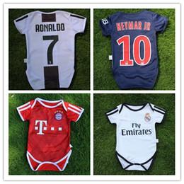 11f876224 nuevo 2018 Camisetas de fútbol para bebés Juventus Bayern Real Madrid Bebé  Ronaldo Triángulo Escala ropa 18 19 jers