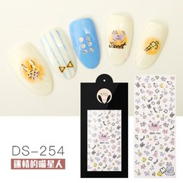 100 pcs lot Japanese DS246-256 Christmas Halloween line Watermark Decal  nail sticker With the detail paper card