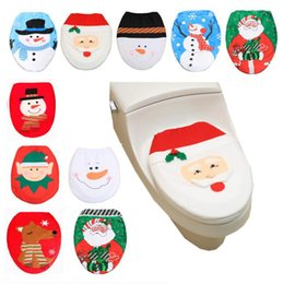 $enCountryForm.capitalKeyWord NZ - Christmas Gifts 10 Styles Santa Claus Snowman Toilet Seat Covers Elk Deer Print Toilet Clothes Decorations Bath Mats Holder Festival Toys